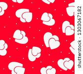 love seamless pattern with red... | Shutterstock .eps vector #1303067182