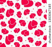 love seamless pattern with red... | Shutterstock .eps vector #1303067185