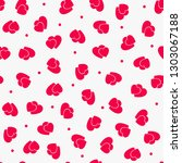 love seamless pattern with red... | Shutterstock .eps vector #1303067188
