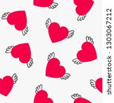 love seamless pattern with red... | Shutterstock .eps vector #1303067212