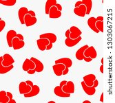 love seamless pattern with red... | Shutterstock .eps vector #1303067215