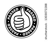 passed thumbs up icon | Shutterstock .eps vector #1303072288