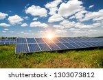 solar panel  photovoltaic ... | Shutterstock . vector #1303073812