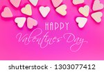 pink valentines day card with... | Shutterstock . vector #1303077412