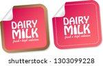 dairy milk stickers | Shutterstock .eps vector #1303099228