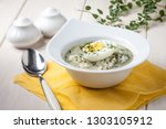 homemade sorrel soup with egg... | Shutterstock . vector #1303105912