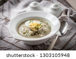 homemade sorrel soup with egg... | Shutterstock . vector #1303105948