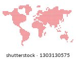 pixel art design of world map.... | Shutterstock .eps vector #1303130575