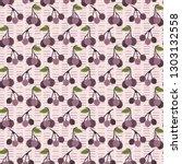 realistic aronia berry vector... | Shutterstock .eps vector #1303132558