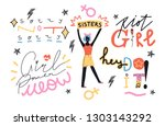 vector handdrawn illustration... | Shutterstock .eps vector #1303143292