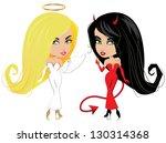 Cute Angel And Devil. Jpg