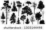set of a variety of forest... | Shutterstock .eps vector #1303144498