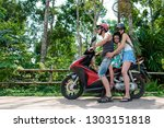 family travelers who take a... | Shutterstock . vector #1303151818