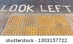 look left written in white... | Shutterstock . vector #1303157722