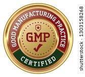gmp certified. good... | Shutterstock .eps vector #1303158268