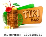 refreshing tropical cold tiki... | Shutterstock .eps vector #1303158382