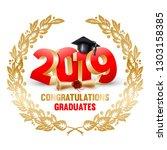 congratulations graduates class ...   Shutterstock .eps vector #1303158385