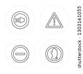 4 line lost items  restaurant ... | Shutterstock .eps vector #1303161055