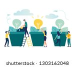 vector illustration. people... | Shutterstock .eps vector #1303162048