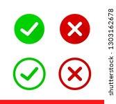 tick and cross vector icon ...   Shutterstock .eps vector #1303162678