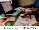 creative web designer planning... | Shutterstock . vector #1303162975