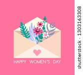 happy 8 march  international...   Shutterstock .eps vector #1303163308