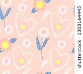 seamless floral pattern. vector ...   Shutterstock .eps vector #1303164445