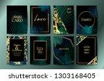 set of botanical elegant... | Shutterstock .eps vector #1303168405