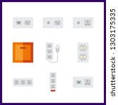 9 switch icon. vector... | Shutterstock .eps vector #1303175335