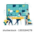 vector illustration  fill in... | Shutterstock .eps vector #1303184278