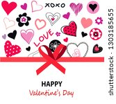 happy valentines day greeting... | Shutterstock .eps vector #1303185655