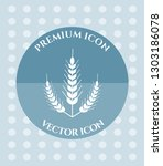 wheat ear icon for web ... | Shutterstock .eps vector #1303186078