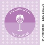 wine glass icon for web ... | Shutterstock .eps vector #1303186108