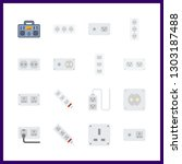 16 switch icon. vector... | Shutterstock .eps vector #1303187488