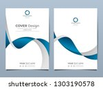 blue corporate identity cover...   Shutterstock .eps vector #1303190578