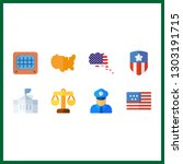 8 government icon. vector...   Shutterstock .eps vector #1303191715