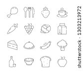 food icon. cuisine products... | Shutterstock .eps vector #1303213972