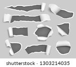white paper ripped. empty blank ... | Shutterstock .eps vector #1303214035