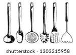 kitchen utensils. different... | Shutterstock .eps vector #1303215958