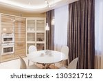 modern kitchen interior with... | Shutterstock . vector #130321712