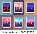 windows day time. early morning ... | Shutterstock .eps vector #1303217275