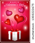 valentine's day card with pink... | Shutterstock .eps vector #1303222675