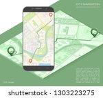 city map route navigation... | Shutterstock .eps vector #1303223275