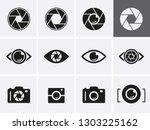 camera shutter  lenses and... | Shutterstock .eps vector #1303225162