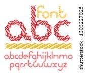 vector script  funky rounded... | Shutterstock .eps vector #1303227025