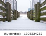 minimal snow covered outdoor... | Shutterstock . vector #1303234282