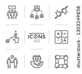 collection of web linear icons... | Shutterstock .eps vector #1303249858