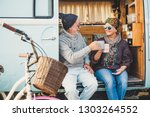 happy cheerful mature people... | Shutterstock . vector #1303264552