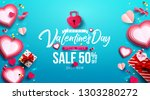 valentine's day sale poster or... | Shutterstock .eps vector #1303280272
