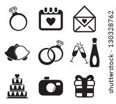 wedding icons | Shutterstock .eps vector #130328762